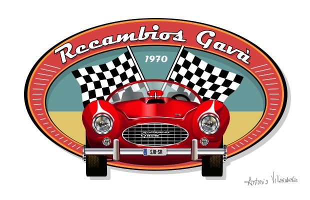 Recambios Gavà 1970. Vintage Logo
